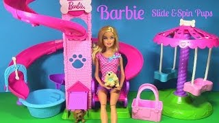 Barbie Slide & Spin Pups Playground Park Barbie Parody