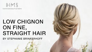 Low Chignon On Fine, Straight Hair By Stephanie Brinkerhoff | Kenra Professional
