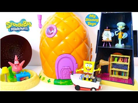 لعبة بيت سبونج بوب و اصدقائة و الأثاث المنزلي العاب بنات و أولاد سبونج بوب