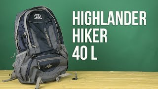 Highlander Hiker 40 / navy blue - відео 1