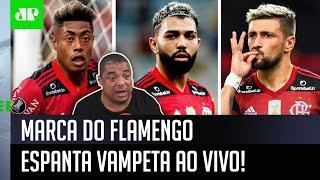 Vampeta se espanta com marca do Flamengo em debate