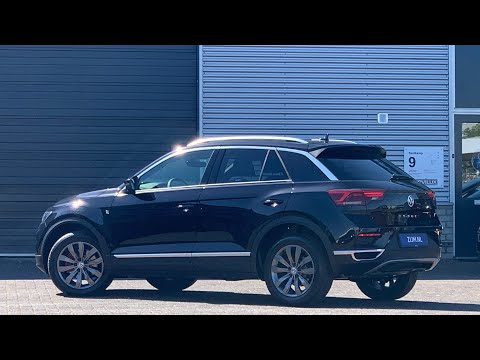 Volkswagen NEW T-roc Sport in 4K 2020 Deep Black 17 inch Kulmbach dark walk around & detail inside