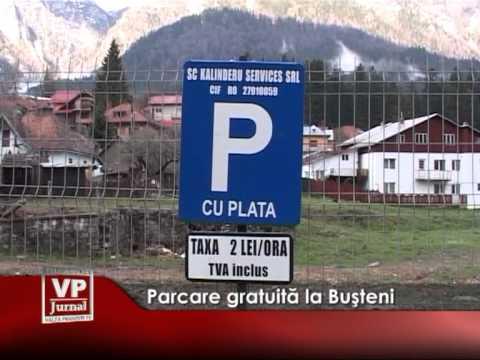 Parcare gatuită la Bușteni