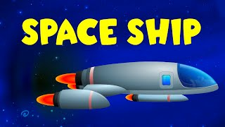Space Ship Video For Kids | Space Vehicles | Construction Game | Car Cartoon for Children