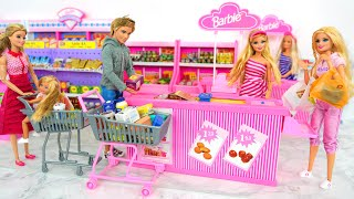 Dolls Go Shopping at Mart, Supermarket Puppenmarkt Supermarché Supermercado مارت Toko kelontong