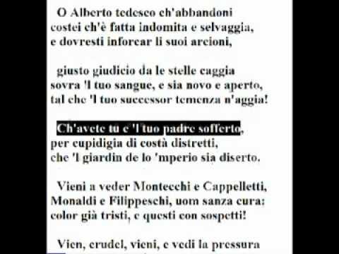 Dante's Purgatorio – Canto VI