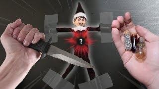 CUTTING OPEN EVIL ELF ON THE SHELF DOLL AT 3 AM!! (WHAT
