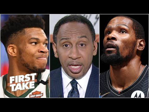 Stephen A. uses a Kevin Durant hypothetical to illustrate why Giannis needs a jumper | First Take