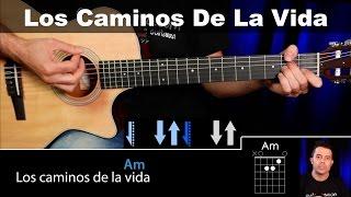 Cómo Tocar Los Caminos De La Vida Vicentico Tutorial Guitarra completo  guitarraviva