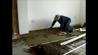 How to DIY  Floor screed.