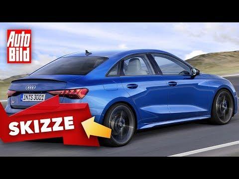 Audi S3 Limousine (2020): A3 - Skizze - Infos