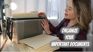 How to Organize A Filing System Of Important Documents // KonMari Method: Paper