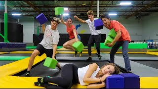 24 HOUR OVERNIGHT IN TRAMPOLINE PARK!!