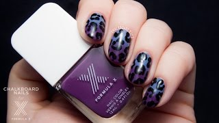 TUTORIAL: Jumbo Leopard Print with Gradient Nail Art