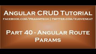 Angular route params