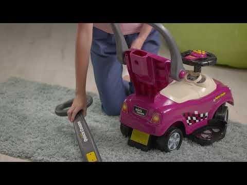 Машина-каталка с ручкой фиолетовый CLB321