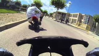 preview picture of video '1ª Carrera minimotos santa barbara (1ª parte 8min) Salida'