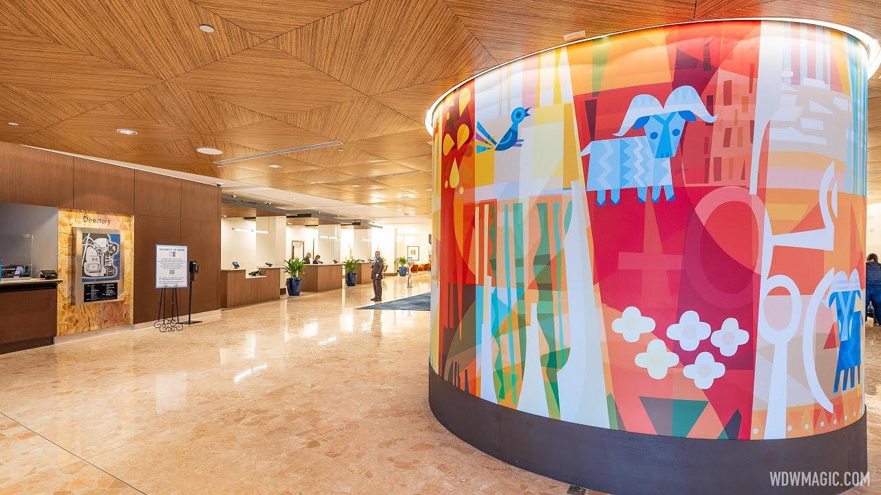 New lobby at Disney's Contemporary Resort