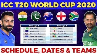 ICC T20 World cup 2020 - Full Schedule, Teams, Venues & Hosting Details.