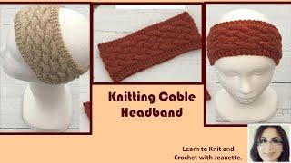 Knitting Cable Headband