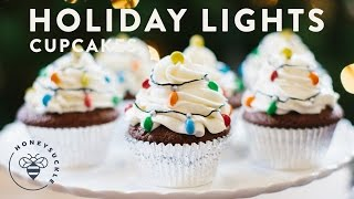 Holiday Lights Gingerbread Cupcakes With Cream Cheese Frosting