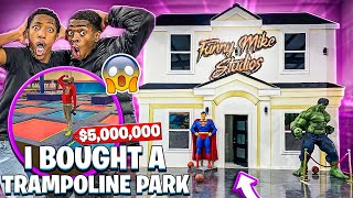 WE FINALLY FINISHED THE WAREHOUSE & I BOUGHT A TRAMPOLINE PARK!