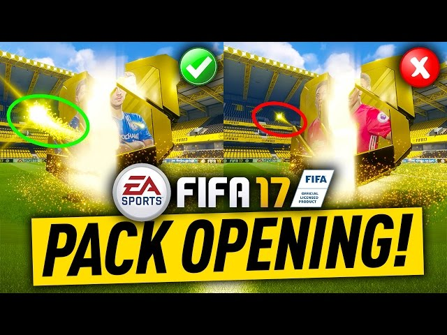 FIFA 17 PACK OPENING GOOD PACKS VS BAD PACKS ANIMATION DIFFERENCES
