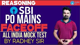SBI PO MAINS | All India Mock Test | Reasoning | Radhey Sir