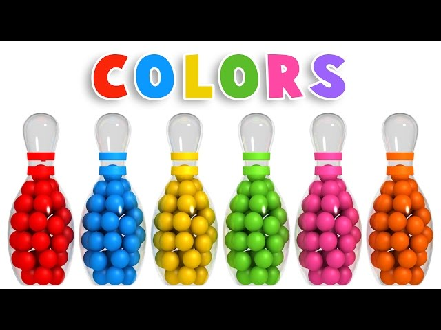 Colors For Children To Learn With 3d Bowling Game Colours Videos Collection