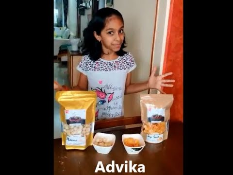 An amazing review by our young and energetic customer, Advika.  Thank you for sharing such beautiful words for Healthy Master.  It is our pleasure to serve healthy snacks for young kids like you!