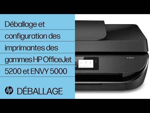 Déballage et configuration des imprimantes des gammes HP OfficeJet 5200 et ENVY 5000