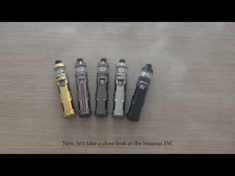 Wismec Sinuous SW с клиромайзером Elabo SW (50W, 3000 mAh) - видео 2