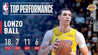 Lonzo Ball Drains 2 Big Buckets In The Clutch To Beat The Spurs