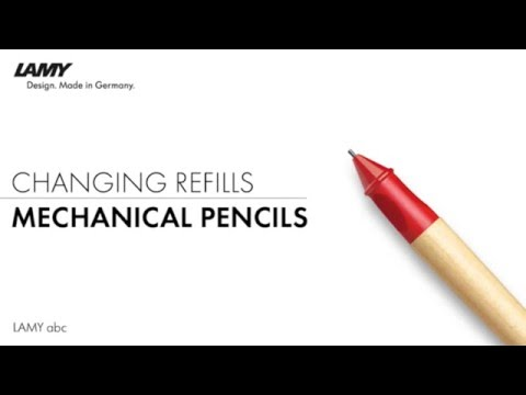 Topkantoor & creatief - LAMY abc Mechanical Pencil – How to Change Refills