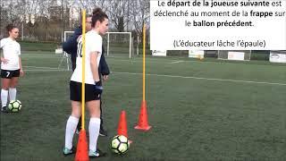Festival Foot U13F : le défi conduite de balle