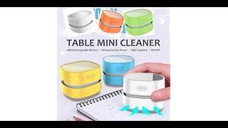 Auspacken ODISTAR Desktop Staubsauger, Mini Tischstaubkehrmaschine von Amazon