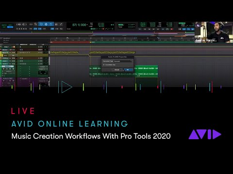 Avid Online Learning — Music Creation Workflows With Pro Tools 2020