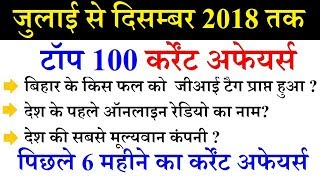 Last 6 month top 100 current affairs 2018 | current affairs 2018 | railway ntpc, je, ssc cgl, mts