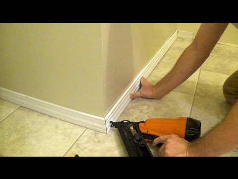 How to Install Floor Molding