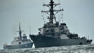 10 sailors missing after US warship collides with tanker