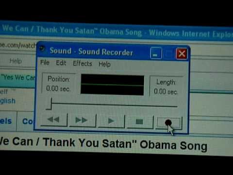 "Obama's Slogan Is ""Thank You Satan"" When Played Backwards. Mp3"