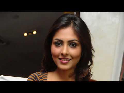Madhu Shalini Super Sexy Legs and Cleavage Show In a Tight Dress At Telugu Film 'Department' Press m