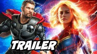 Captain Marvel Superbowl Trailer - Avengers Endgame Easter Eggs Breakdown