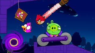 Angry Birds Cannon Collection 4 - RESCUE THE GIRLFRIEND THROUGH A BLACK HOLE FROM PIGGIES!