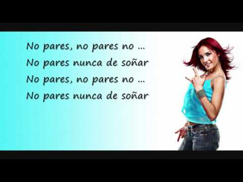 RBD - No Pares (Lyrics)