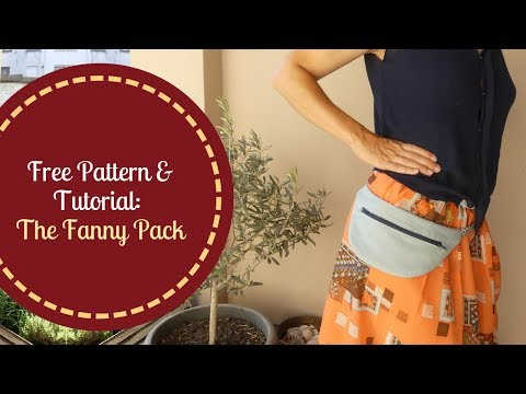 Quick Sewing Tutorial with Free Pattern: The Fanny Pack