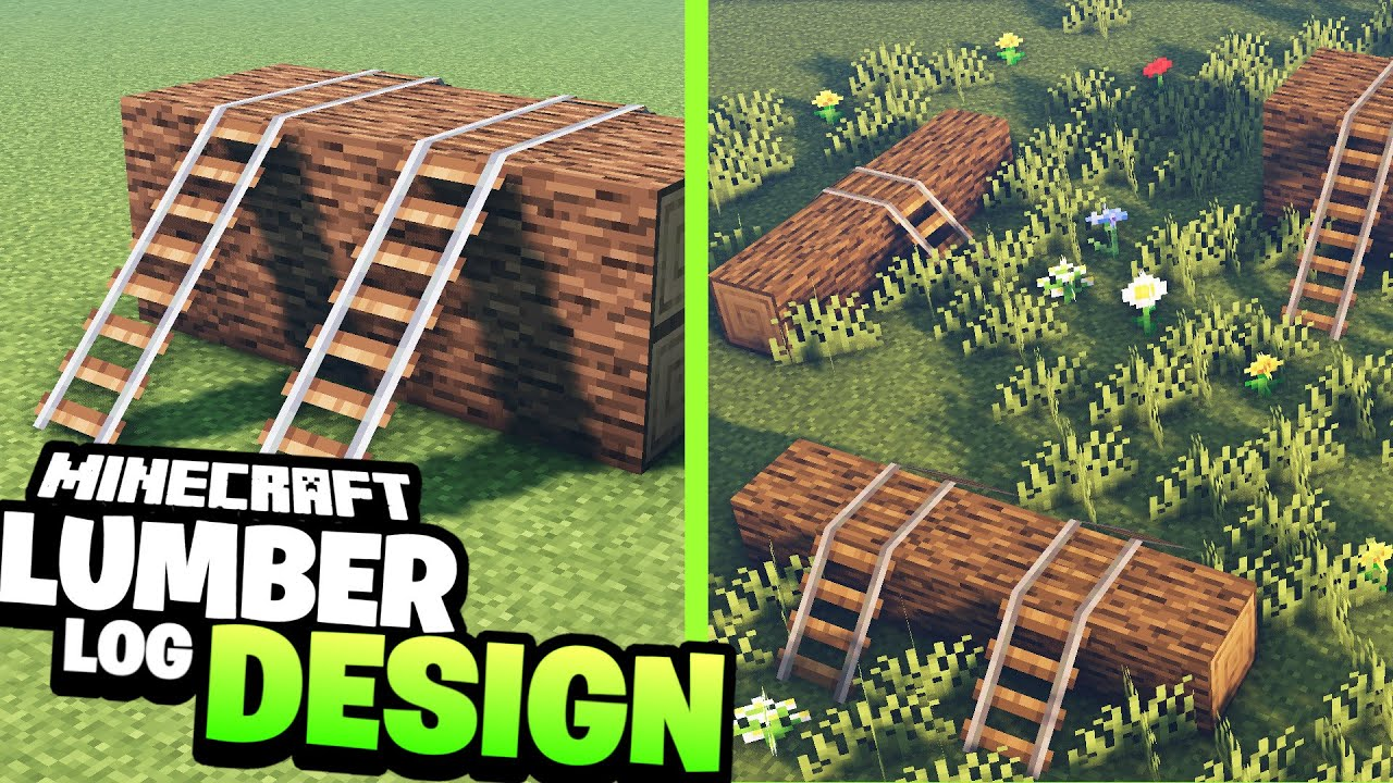 Minecraft 1.16 Tutorial - Wood Log Lumber Design Tips and Tricks!