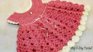 Crochet Baby Dress 0-6 Months Bag O Day Crochet Tutorial #375 Subtitles Available In 21 Languages