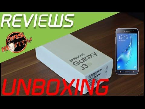 Samsung Galaxy J3 2016 Duos SM-J320F/DS - Unboxing - Smartphone / Handy - Das Monty - Deutsch