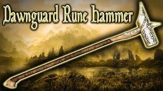 Skyrim SE - Dawnguard Rune Hammer - Unique Weapon Guide